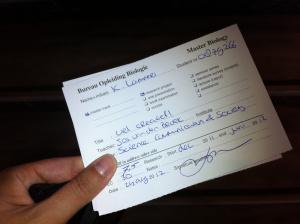 Daar is die dan: mijn laatste tentamenkaart!