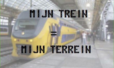 Mijn trein = mijn terrein