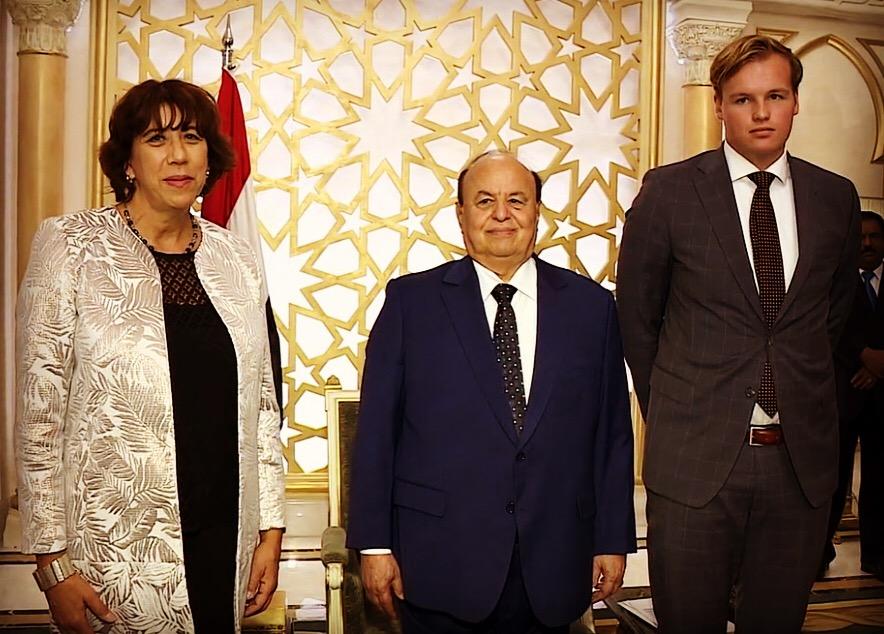 Op de foto met president Hadi van Jemen