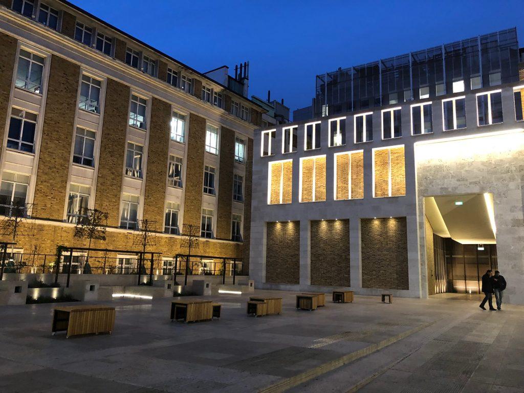 Binnenplaats van University College London, studeren in het buitenland