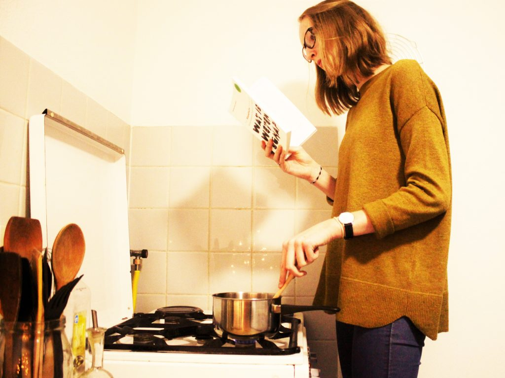 Lezen tijdens het koken