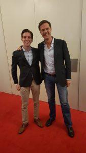 Florian met Mark Rutte