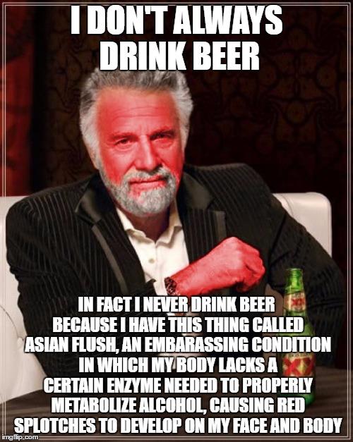 Asian glow: waarom ik soms nee zeg tegen een biertje