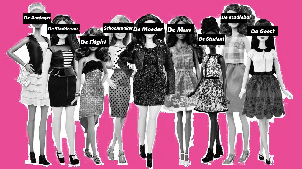 Verschillende Types in een Meidenhuis
