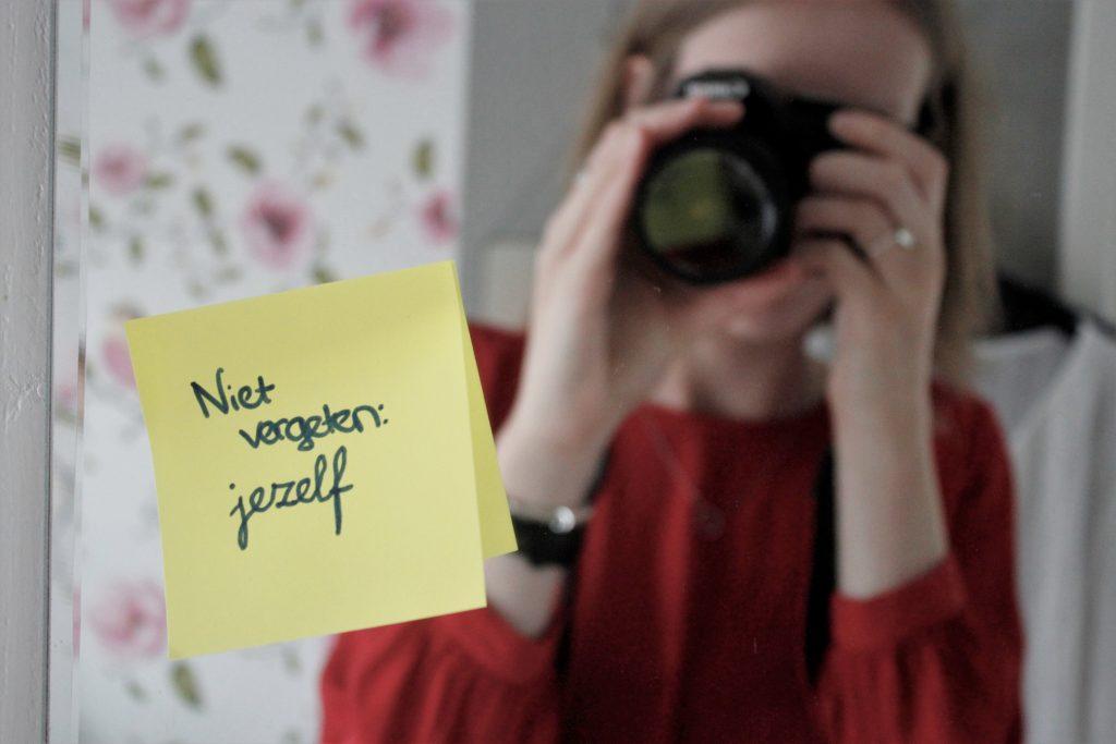 niet vergeten: jezelf