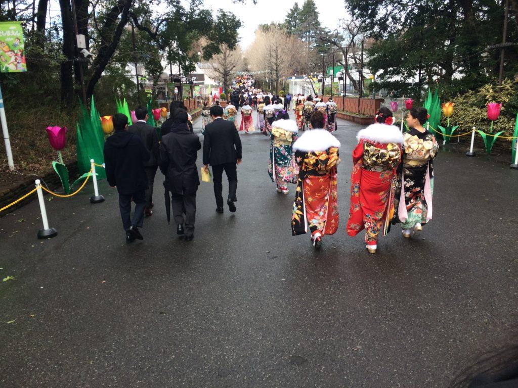 Seijin no hi / meerderjarigheidsdag in Tokio, Nerima prefecture.