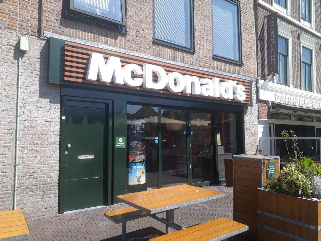 McDonald's bij pleintje de Beestenmarkt in Leiden heeft glutenvrij eten.