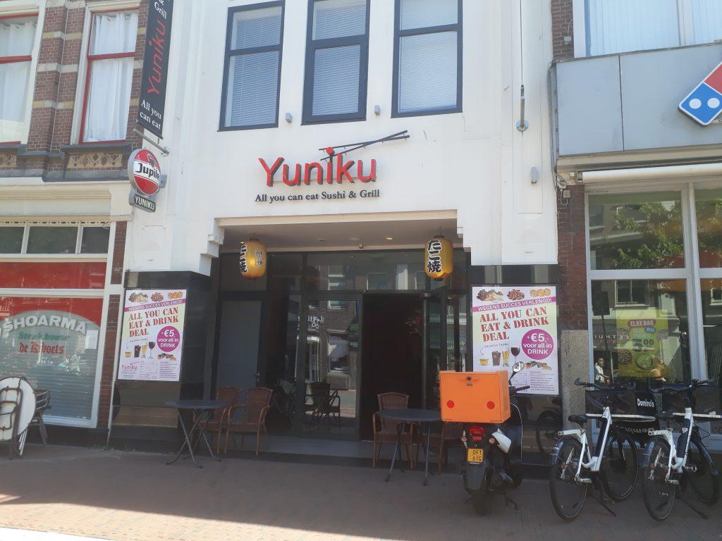 Sushi-restaurant Yuniku in Leiden heeft glutenvrij eten.