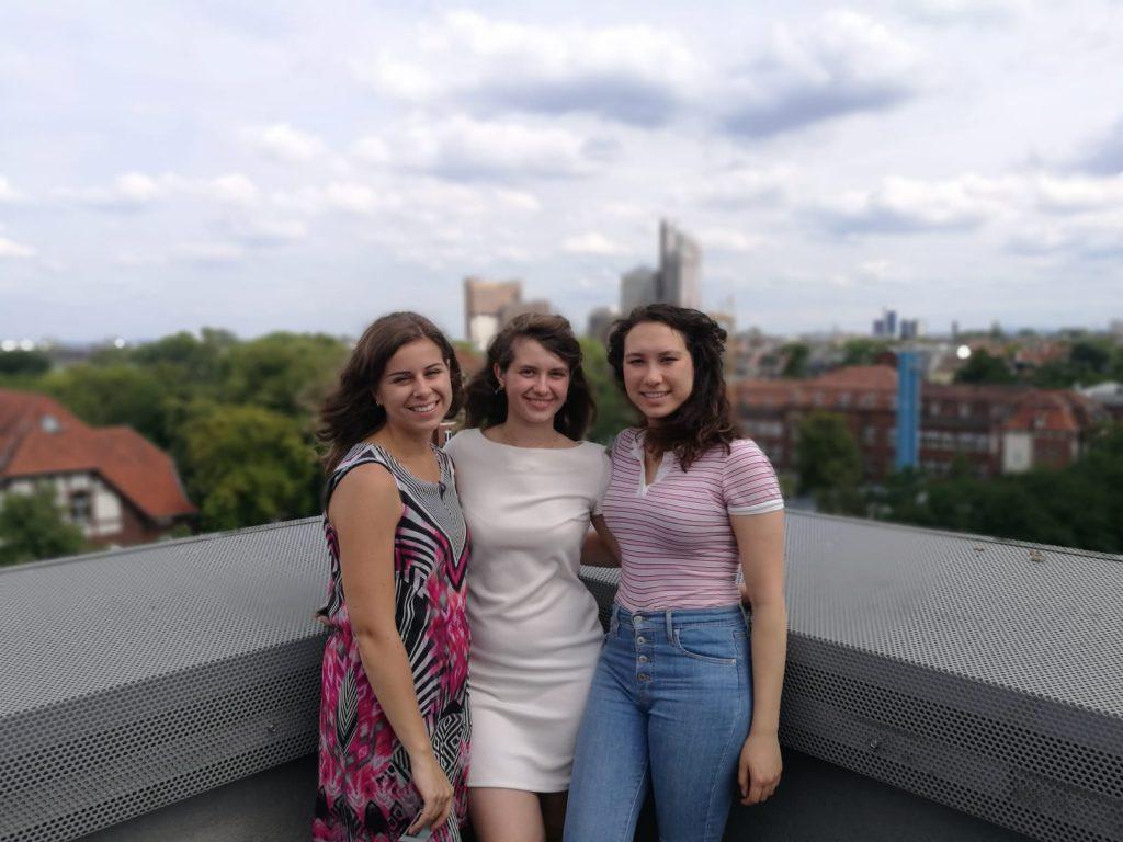 Laatste dag van de summer school, op het dak van de universiteit