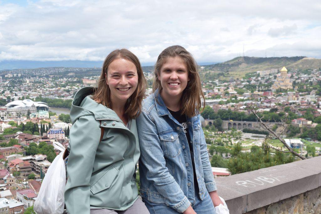 Ik en Wilke op studiereis in Tblisi.