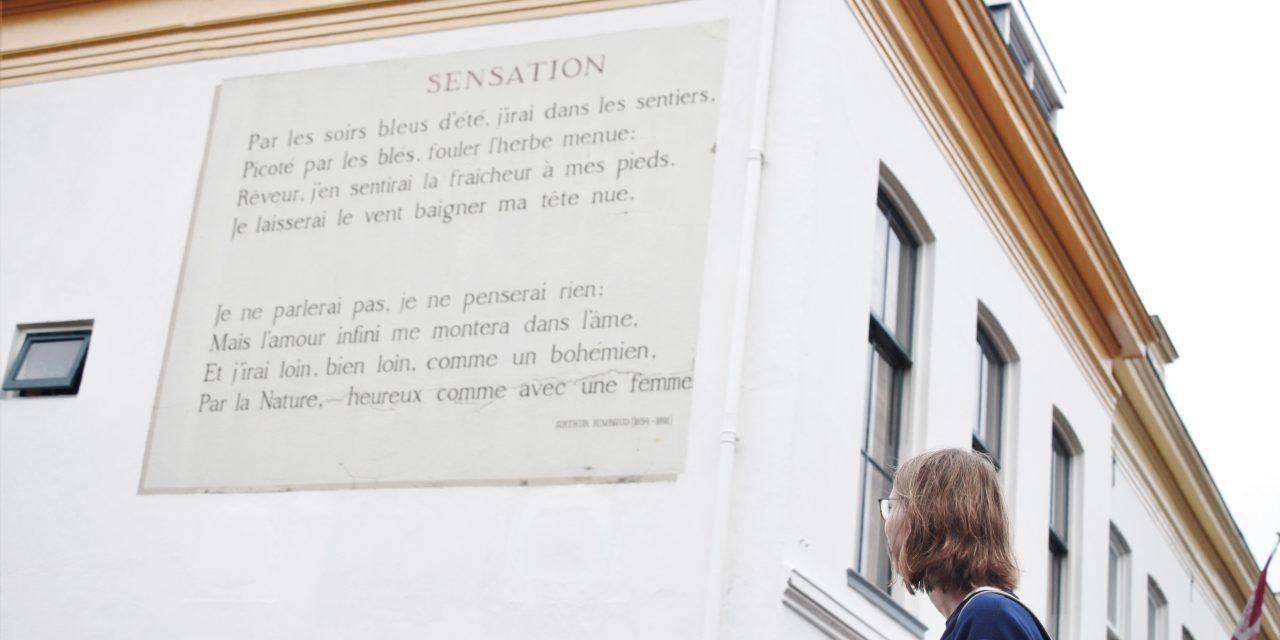Ontdek Leiden door poëzie: Muurgedichten