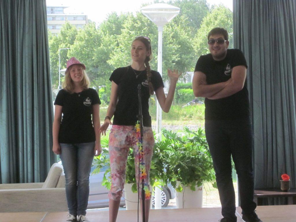 Theatersportwedstrijd van studentenvereniging Cuculum.