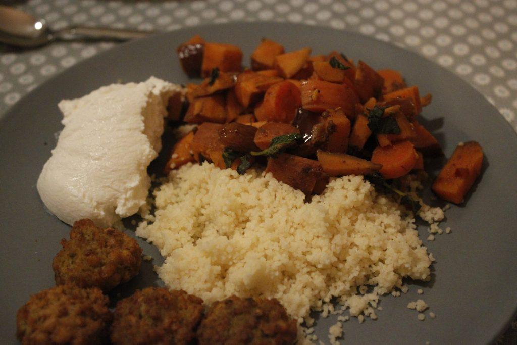 marokkaanse stoof met couscous en falafel - stoof is goed te mealpreppen