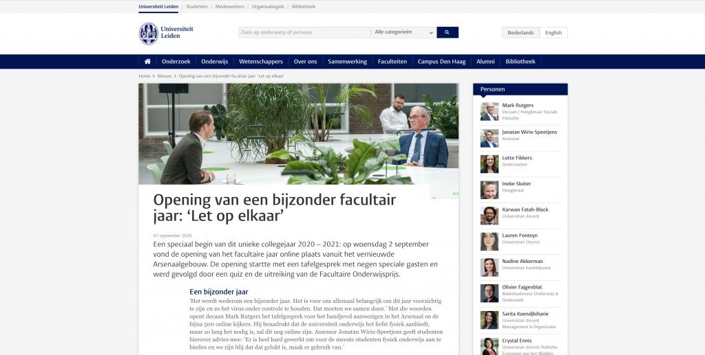 Artikel van Universiteit Leiden