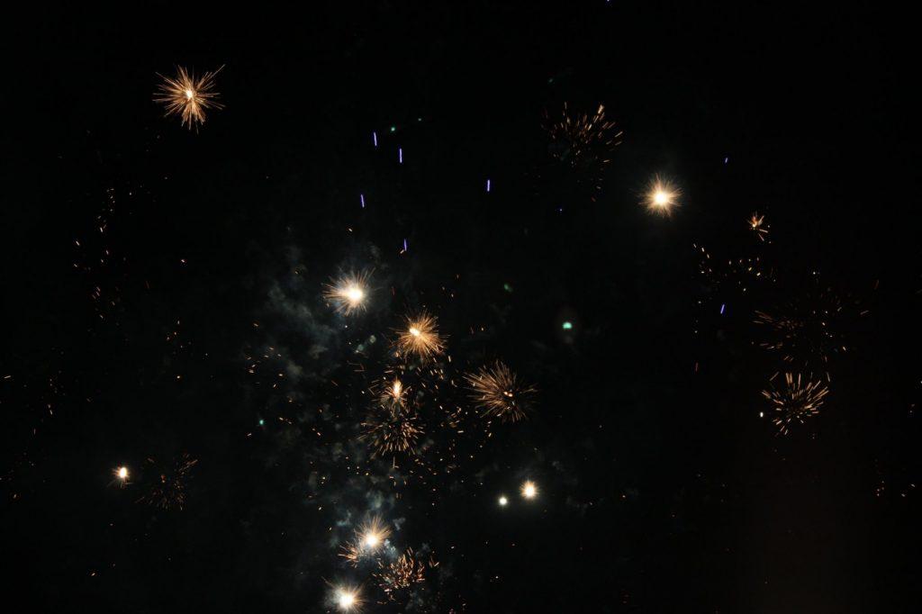 vuurwerk in de lucht